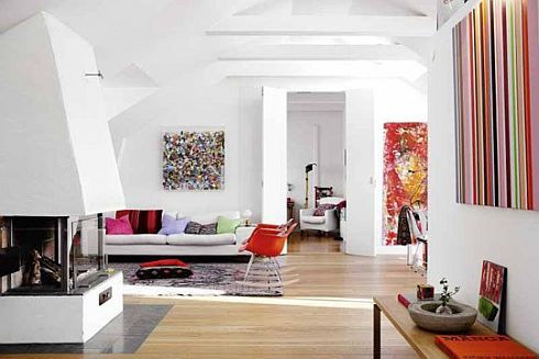 Design Living Room With Pure White Walls And  Part 78